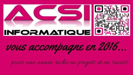 ACSI Informatique 2016 projets succès